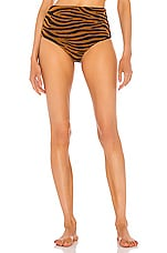 Mara Hoffman Lydia Bikini Bottom in Brown Clay