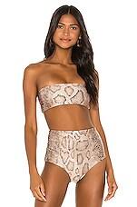Mara Hoffman Abigail Bikini Top in Sand Multi