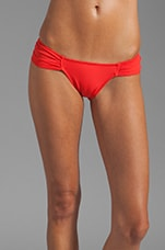 Rouched Side Bottom in Poppy