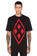 Fitzroy Tee in Black Red
