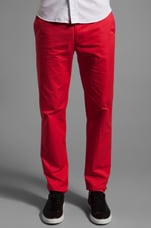 Harvey Twill Pant in Scarlet