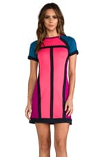 Marc by Marc Jacobs Connie Colorblock Dress in Neon Pink