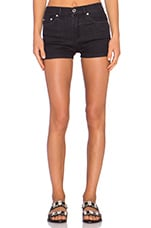 High Waisted Short in Ravan Black