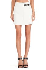 Eva Stretch Mini Skirt in Antique White