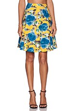 Marc by Marc Jacobs Jerrie Rose Poplin Skirt in Yellow Jacket Multi