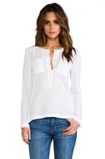 Emi Eyelet Tee in White