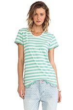Pam Stripe Tee Multi in Dusty Jade Green