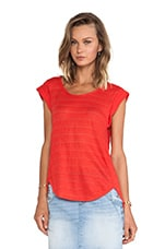 Eloise Ombre Jersey Tee in Bright Red