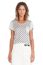 Charlene Printed Jersey Tee in Antique White Multi