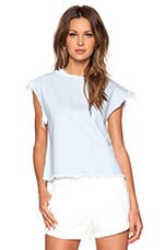 Marc by Marc Jacobs Pale Indigo Crop Top in Sunbleached