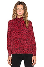 Strawberry Thief Blouse en Imprimé Rouge Rubis
