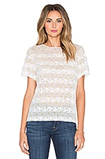 Lemon Pindot Voile Top en Off White Multi