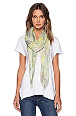 Charlotte Paint Scarf in Washed Mint Multi
