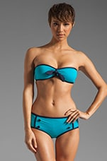 Woodward Solids Bandeau Bra in Dark Lucid Aqua