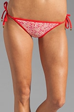 Jamie Denim Euro String Bottom in Coral