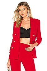 Marled x Olivia Culpo Cold Elbow Blazer in Paparazzi Red