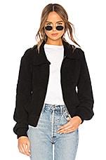 Marled x Olivia Culpo Boucle Bomber Jacket in Black