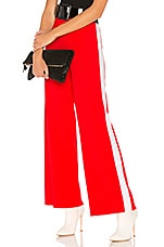 Marled x Olivia Culpo Track Pant in Red & White