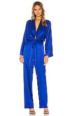 Michelle Mason x REVOLVE Kimono Tie Jumpsuit in Cobalt