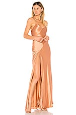 Michelle Mason x REVOLVE Bias Gown in Terracotta
