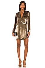 Michelle Mason Jacket Dress in Antique Gold