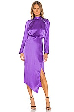 Michelle Mason Raglan Dress With Crystal in Grape