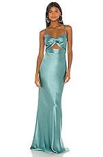 Michelle Mason X REVOLVE Twist Gown in Cerulean
