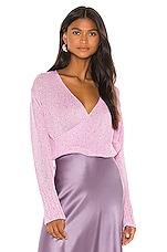 Michelle Mason Cross Wrap Sweater in Bubblegum