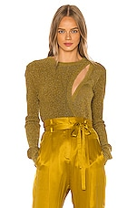Michelle Mason Asymmetrical Layered Sweater in Dijon