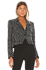 Michelle Mason Crystal Jacket in Black