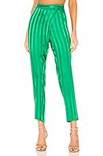 Michelle Mason Wrap Pant in Green