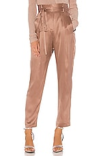 Michelle Mason Paperbag Cropped Trouser in Shell