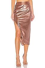Michelle Mason Side Slit Skirt in Mauve