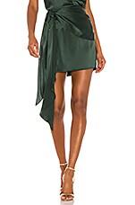 Michelle Mason Mini Skirt With Sash in Bottle
