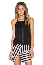 Halter Top with Sheer insets in Black