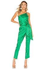 Michelle Mason One Shoulder Top in Green