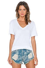 x Dailies Charlie V Neck Tee in White