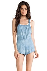 May. Peaches Overall in Light Blue