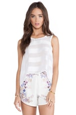 Oleander Shift Tank in White