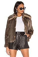 MCGUIRE The French 75 Faux Fur Jacket in Brown