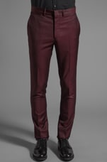 Classic Slim Tailored Trouser in Ox Blood