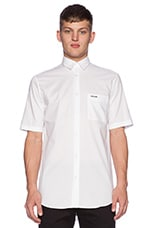 S/S Long Pocket Shirt in Optic White
