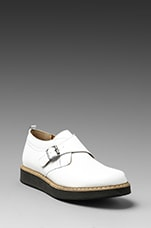 Monk Short Boot in White
