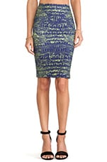 Contour Skirt in Indigo Reptile