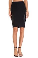 Engineered Skirt in Black