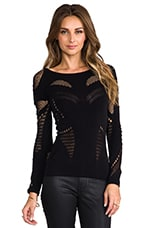 Mesh Body Top in Black