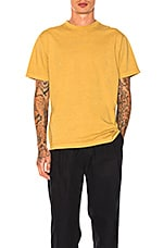 Natural Dyed Block Tee in Mustard