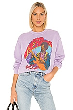 Madeworn Jimi Hendrix Just Ask The Axis Crew Fleece in Lilac