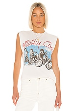 Madeworn Motley Crue Girls Tank in Off White