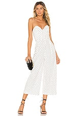Michael Costello x REVOLVE Carlisle Jumpsuit in White & Black Dot